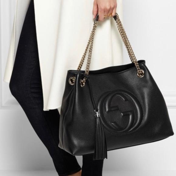 Gucci Handbags - Gucci Soho leather shoulder bag